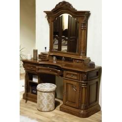 Резной туалетный стол с зеркалом в спальню Кристина Cristina