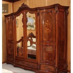 Темный классический шкаф в спальню Мара Белла