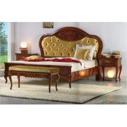 Кровать с круглым фигурным изголовьем в спальню Маттео