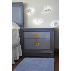 Тумбочка прикроватная в детскую спальню Олд Неви (OLD NAVY)