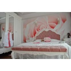 Красивая кровать с оббитым изголовьем в спальню Палермо