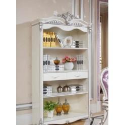 Белая библиотека в мебельный гарнитур Принцесса