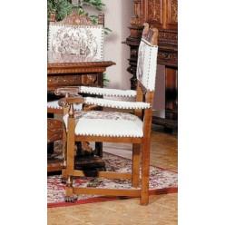 Стул с подлокотником в коллекцию мебели Итальянский ренессанс