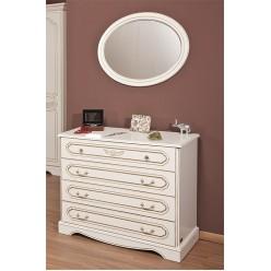 Комод с зеркалом в спальный гарнитур Валентина