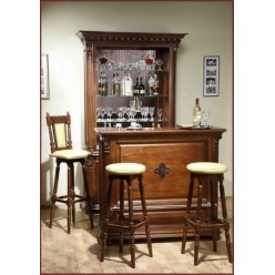 Буфет-витрина с барной  стойкой в гостиный гарнитур Венеция Люкс (Venetia Lux)