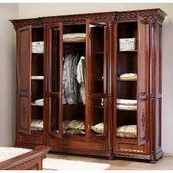Шкаф четырехдверный в спальный гарнитур Венеция Люкс