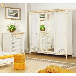Шкаф четырехдверный в спальню Верона Голд Ардудана