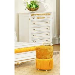Комод белый с золотой патиной в спальню Верона Голд