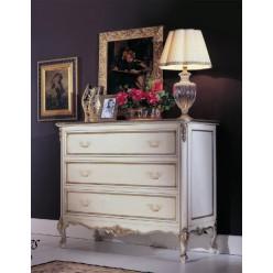 Комод белый с позолотой в спальный гарнитур Версаль