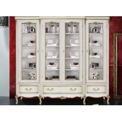 Классические белые витрины в мебельный гарнитур Версаль